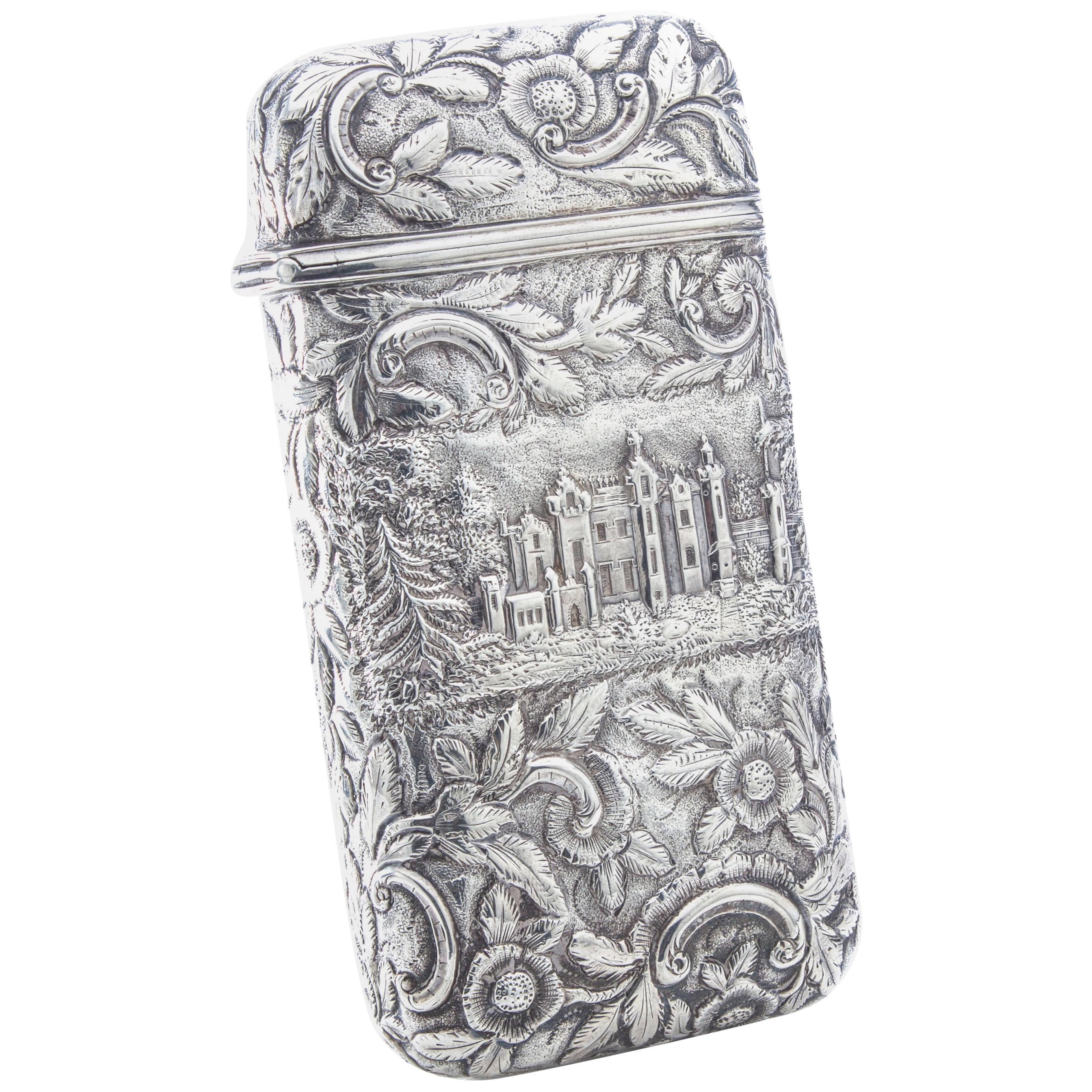 Antique Victorian Sterling Silver Cigar Case