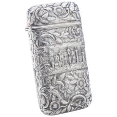 Antique Victorian Sterling Silver Cigar Case