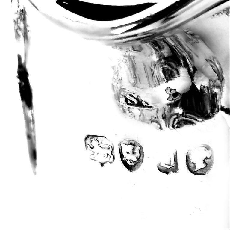 Antique Victorian Sterling Silver Claret Jug / Ewer / Pitcher 1869 Wine / Water 4