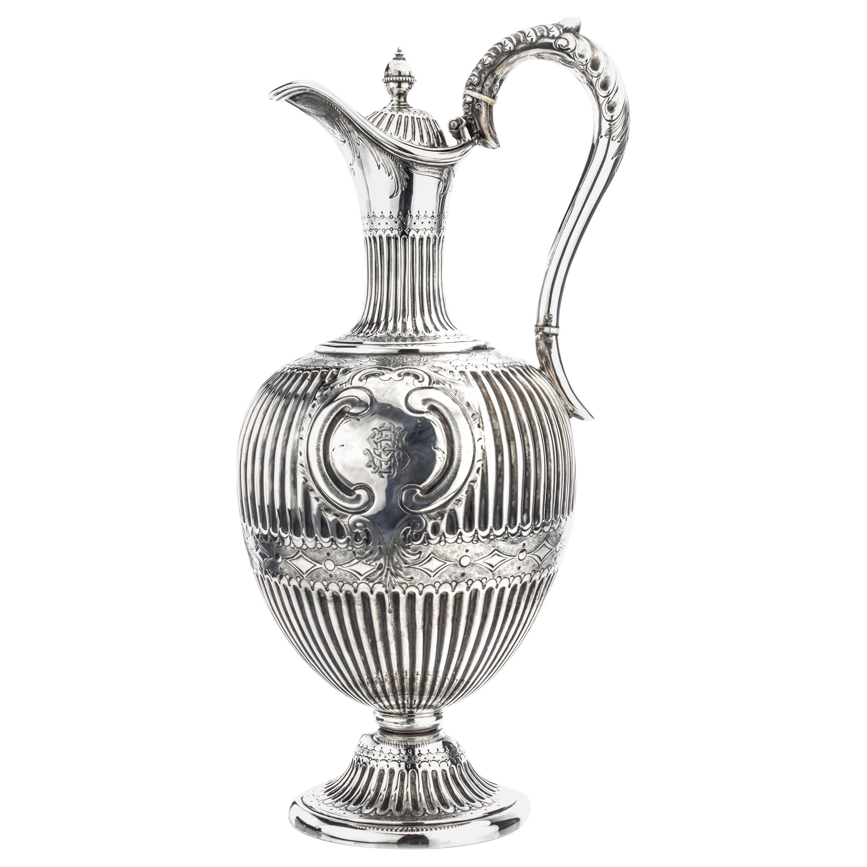 Antique Victorian Sterling Silver Claret Jug/ Water Pitcher