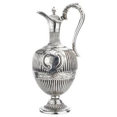 Antique Victorian Sterling Silver Claret Jug/ Water Pitcher