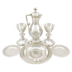 Antique Victorian Sterling Silver Communion Set