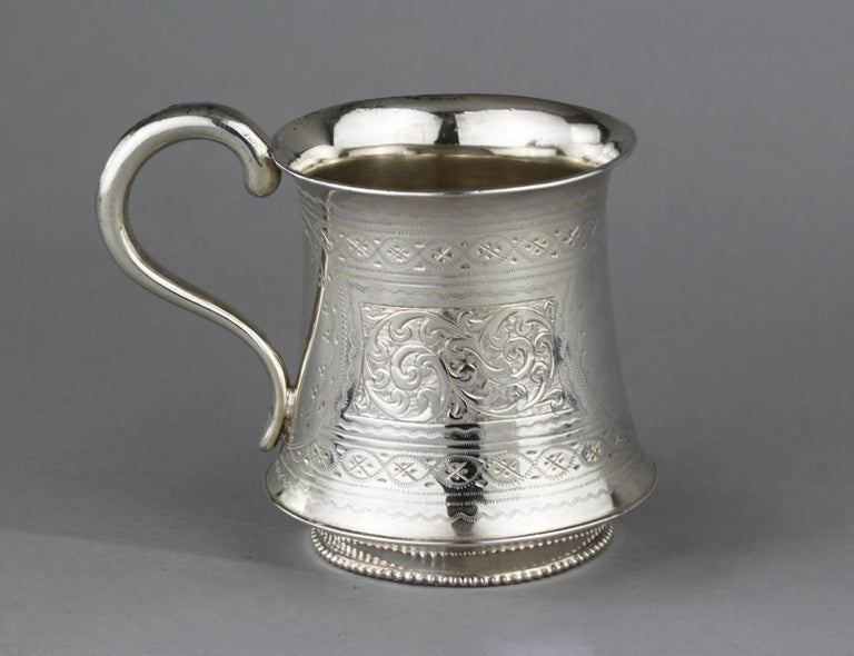 British Antique Victorian Sterling Silver Cup, Hilliard & Thomason, Birmingham, 1894 For Sale