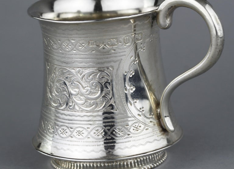 Late 19th Century Antique Victorian Sterling Silver Cup, Hilliard & Thomason, Birmingham, 1894 For Sale