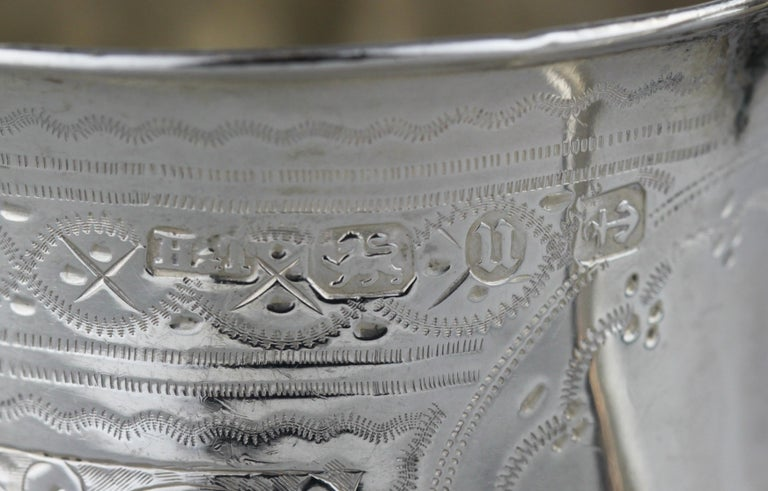 Antique Victorian Sterling Silver Cup, Hilliard & Thomason, Birmingham, 1894 For Sale 3