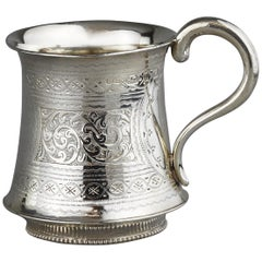 Antique Victorian Sterling Silver Cup, Hilliard & Thomason, Birmingham, 1894