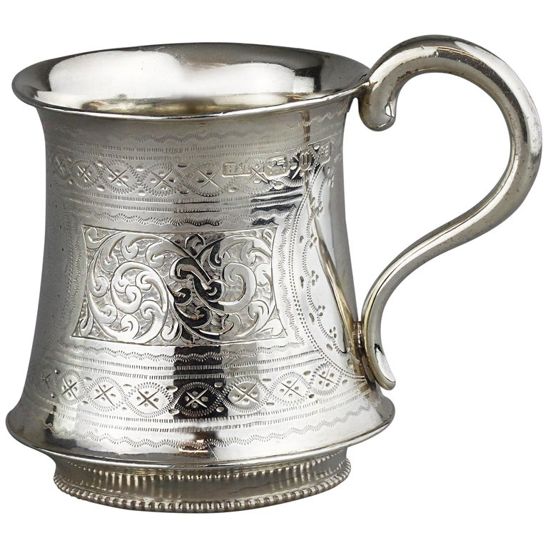 Antique Victorian Sterling Silver Cup, Hilliard & Thomason, Birmingham, 1894 For Sale