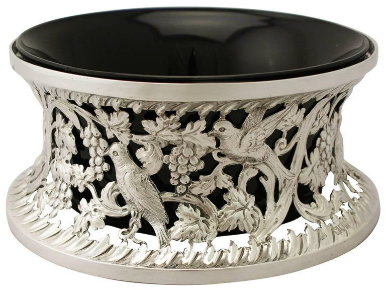 English Antique Victorian Sterling Silver Dish Ring For Sale