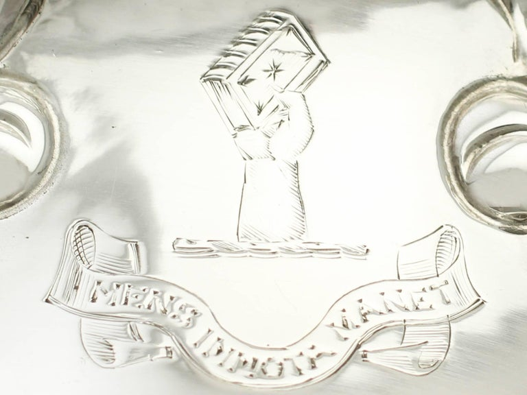 Antique Victorian Sterling Silver Dish Ring For Sale 1