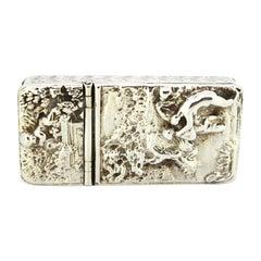 Antique Victorian Sterling Silver Double Vesta Case, Birmingham, 1867