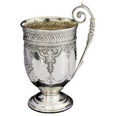 Antique Victorian Sterling Silver Drinking Cup
