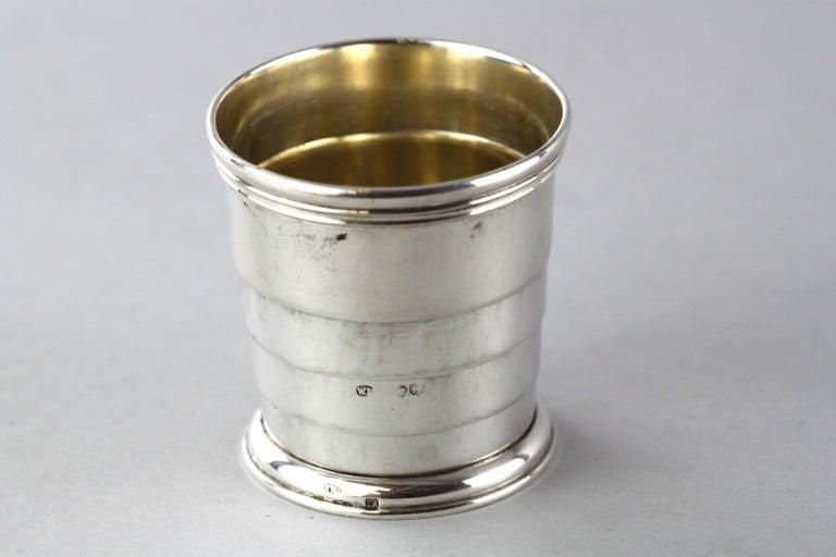 British Antique Victorian Sterling Silver Expandable / Portable, London / Paris, 1886 For Sale