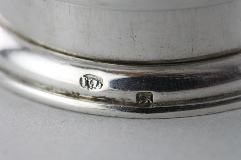 Antique Victorian Sterling Silver Expandable / Portable, London / Paris, 1886 In Good Condition For Sale In Braintree, GB