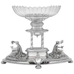 Antique Victorian Sterling Silver Figural Neoclassical Centrepiece, Made in 1897