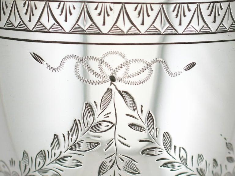 Antique Victorian Sterling Silver Goblet, 1867 For Sale 1