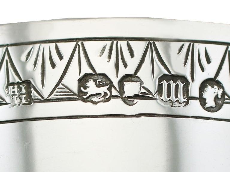 Antique Victorian Sterling Silver Goblet, 1867 For Sale 2