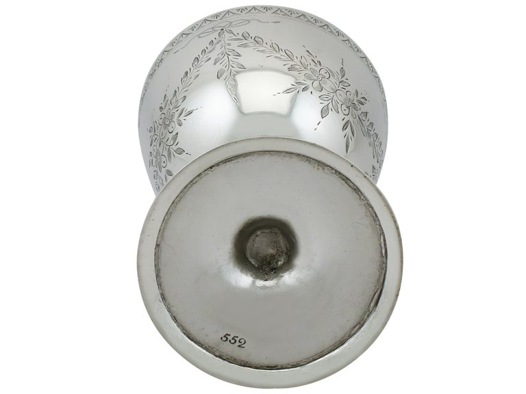 Antique Victorian Sterling Silver Goblet, 1867 For Sale 3