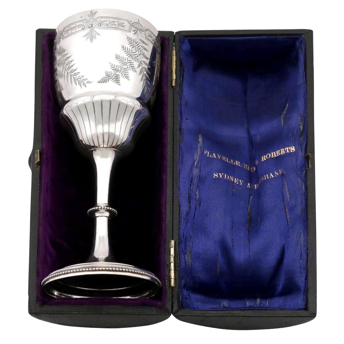 Antique Victorian Sterling Silver Goblet