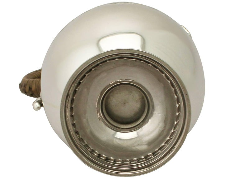 Antique Victorian Sterling Silver Hot Water Jug For Sale 5