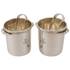 Antique Victorian Sterling Silver Ice Buckets / Pails