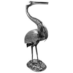 Antique Victorian Sterling Silver Model Heron / Crane Bird Figure 1893 Import Mk