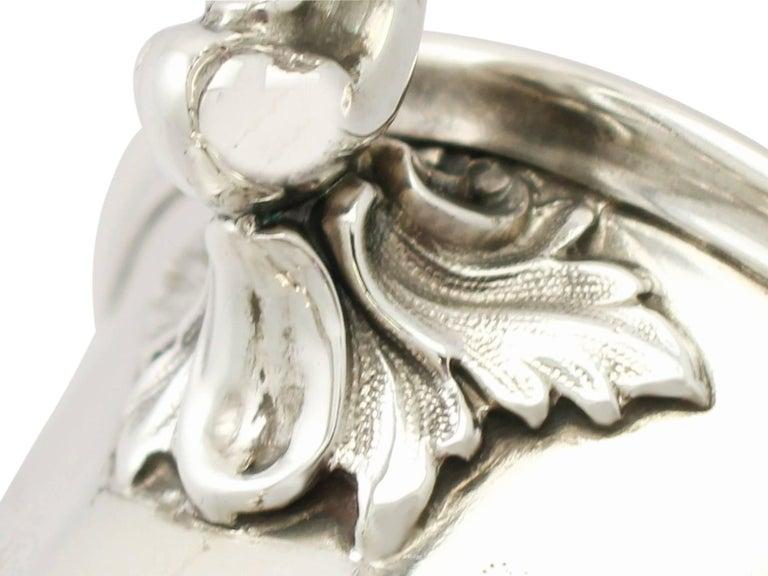 Mid-19th Century Antique Victorian Sterling Silver Mug by Edward John & William Barnard, 1848 For Sale