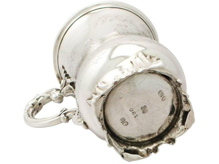 Antique Victorian Sterling Silver Mug by Edward John & William Barnard, 1848 For Sale 4