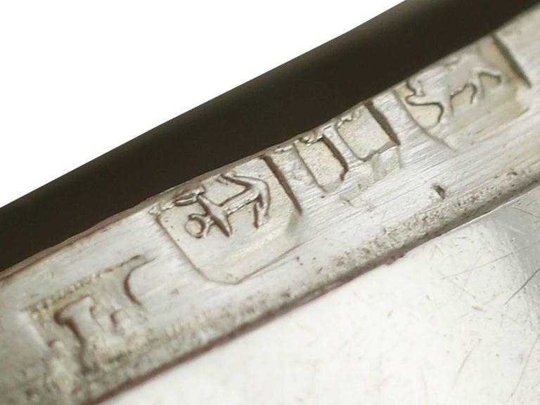 Antique Victorian Sterling Silver Mussel Vesta Case For Sale 4