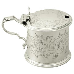 Antique Victorian Sterling Silver Mustard Pot, 1862