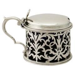 Antique Victorian Sterling Silver Mustard Pot by Edward & John Barnard