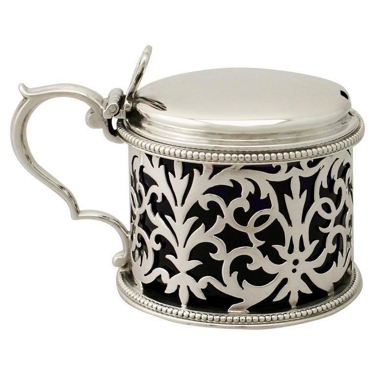 Antique Victorian Sterling Silver Mustard Pot by Edward & John Barnard For Sale