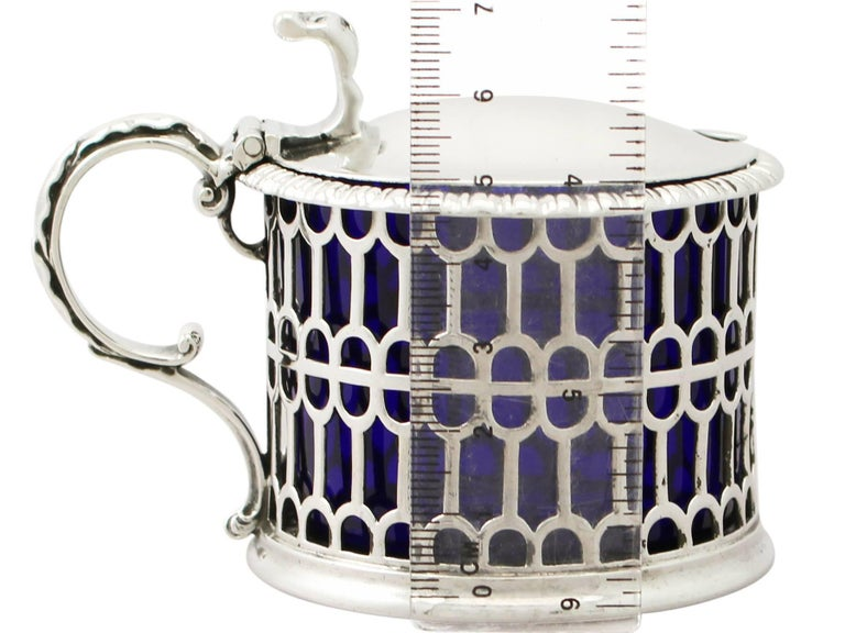 Antique Victorian Sterling Silver Mustard Pot, 1855 For Sale 5