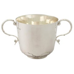Antique Victorian Sterling Silver Porringer