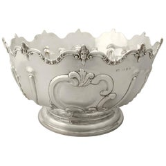 Antique Victorian Sterling Silver Presentation Bowl, 1890