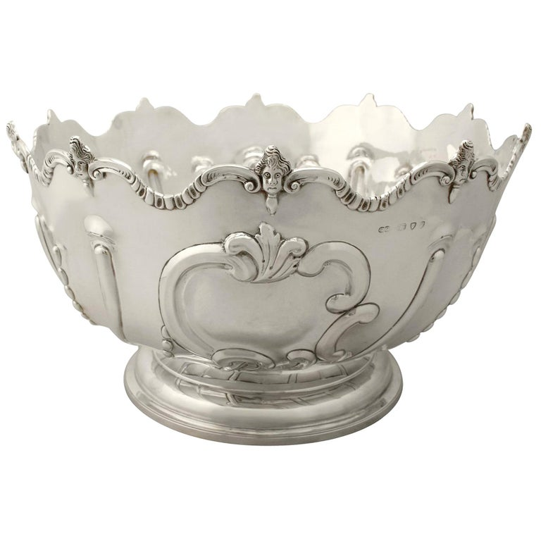 Antique Victorian Sterling Silver Presentation Bowl, 1890 For Sale