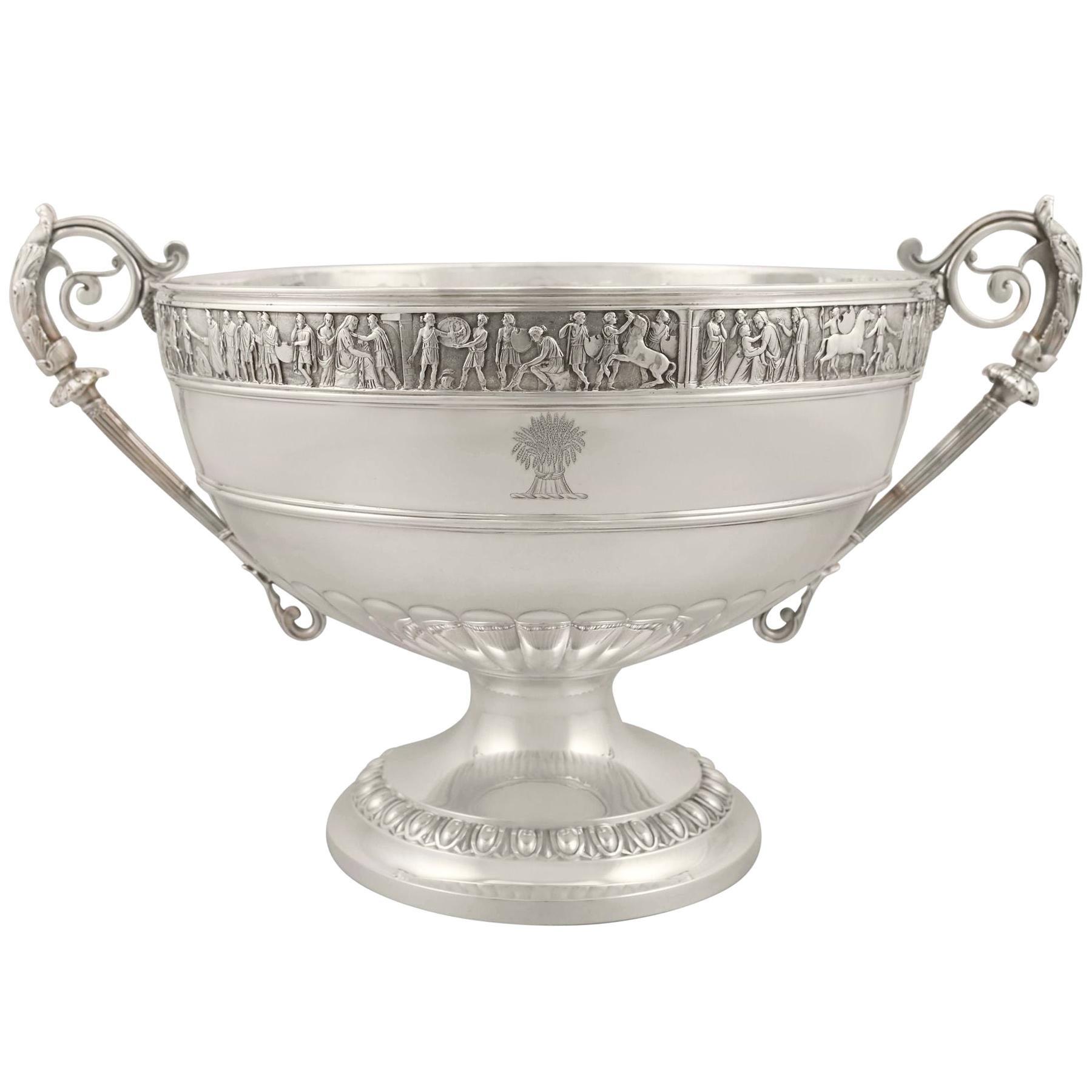 Antique Victorian Sterling Silver Presentation Bowl, 1899