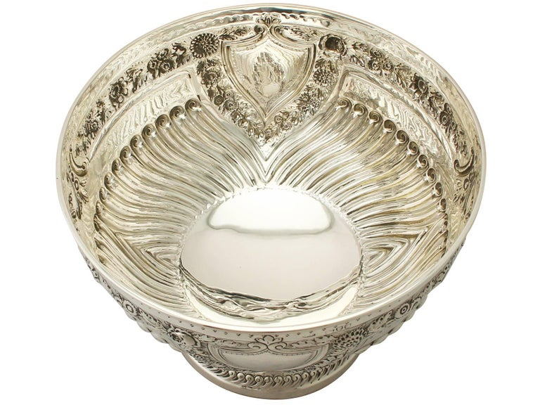 Antique Victorian Sterling Silver Presentation Bowl In Excellent Condition For Sale In Jesmond, Newcastle Upon Tyne