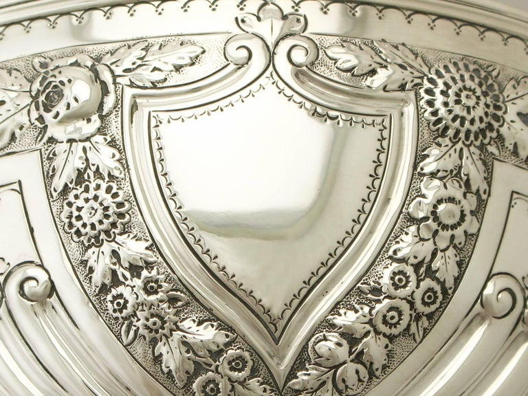 Antique Victorian Sterling Silver Presentation Bowl For Sale 1