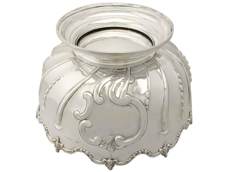 Antique Victorian Sterling Silver Presentation Bowl, 1890 For Sale 3