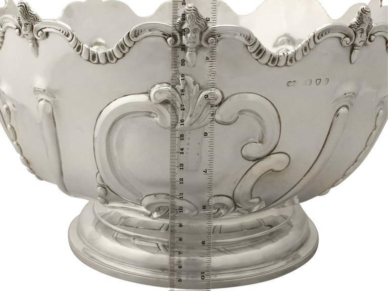 Antique Victorian Sterling Silver Presentation Bowl, 1890 For Sale 4