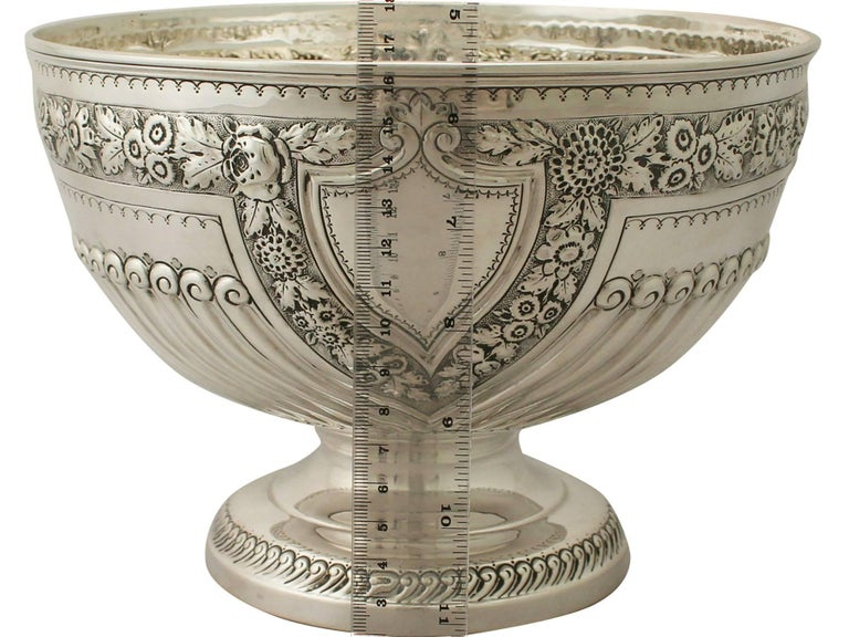Antique Victorian Sterling Silver Presentation Bowl For Sale 4