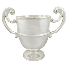 Antique Victorian Sterling Silver Presentation Champagne Cup
