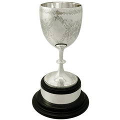 Antique Victorian Sterling Silver Presentation Cup by Charles Stuart Harris
