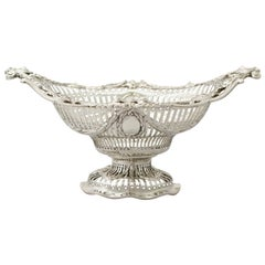 Antique Victorian Sterling Silver Presentation/Fruit Dish