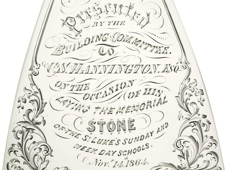 Antique Victorian Sterling Silver Presentation Trowel For Sale 1