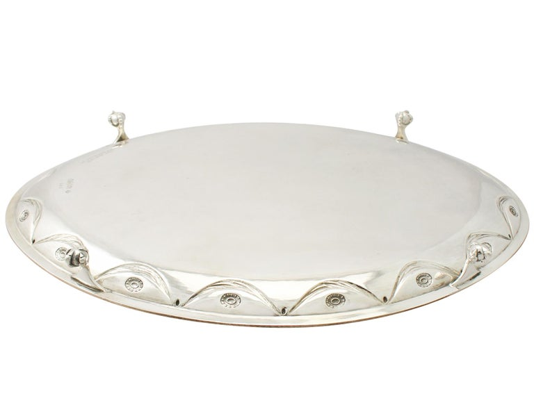 Antique Victorian Sterling Silver Salver For Sale 5