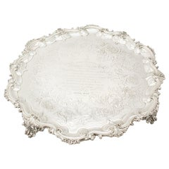 Antique Victorian Sterling Silver Salver