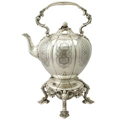 Antique Victorian Sterling Silver Spirit Kettle