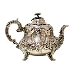 Antique Victorian Sterling Silver Teapot London 1859 Barnard Family