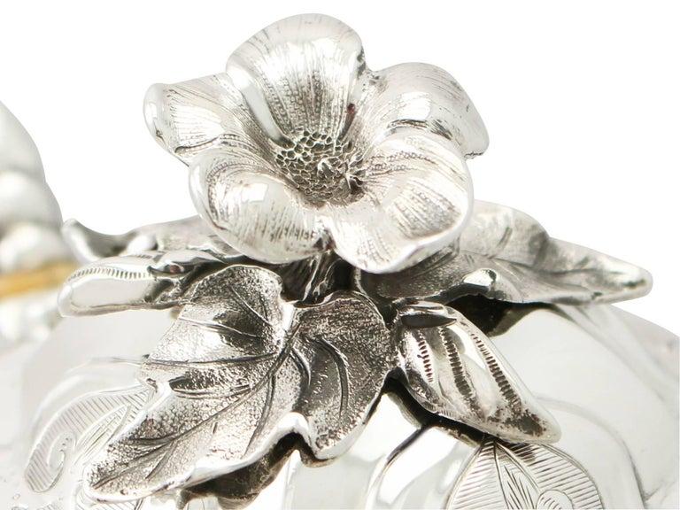 Antique Victorian Sterling Silver Three-Piece Tea Service 3